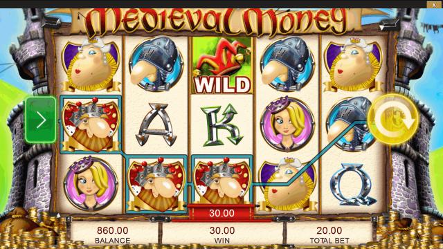 Характеристики слота Medieval Money 4