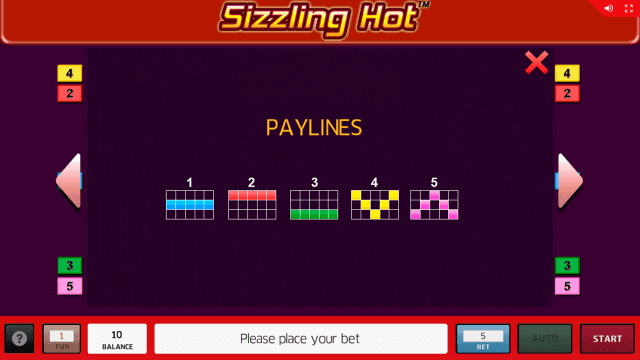 Характеристики слота Sizzling Hot 17