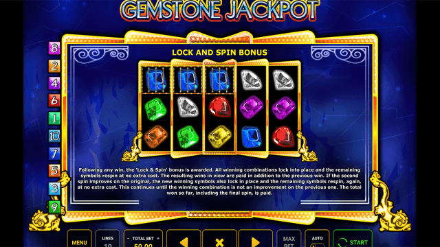 Бонусная игра Gemstone Jackpot 7