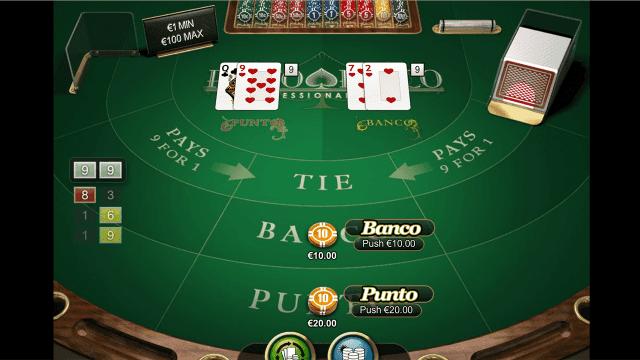 Игровой интерфейс Punto Banco Professional Series 5