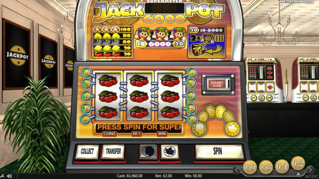 Игровой интерфейс Jackpot 6000 5