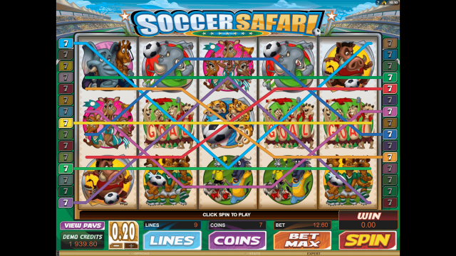 Игровой интерфейс Soccer Safari 7