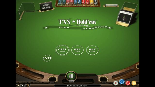 Игровой интерфейс TXS Hold'em Pro Series 1