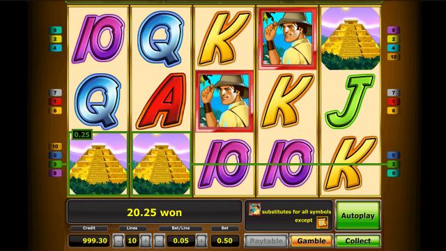 Характеристики слота Quest For Gold 4