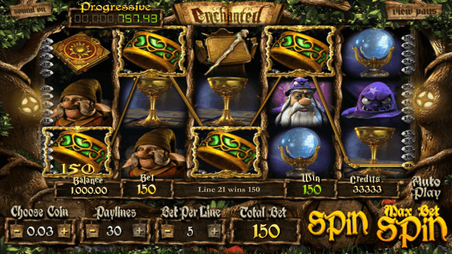 Игровой интерфейс Enchanted 4