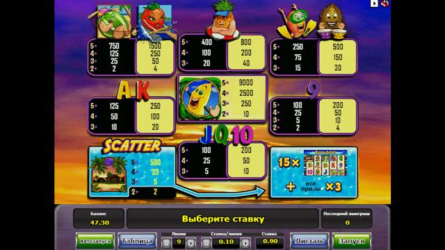 Игровой интерфейс Banana Splash 6