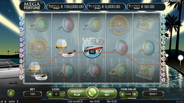 Бонусная игра Mega Fortune 3