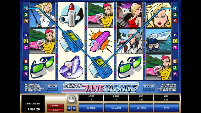Характеристики слота Agent Jane Blonde 7
