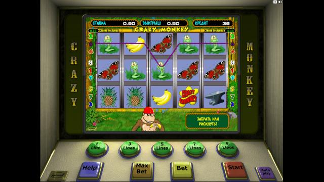Игровой интерфейс Crazy Monkey 9