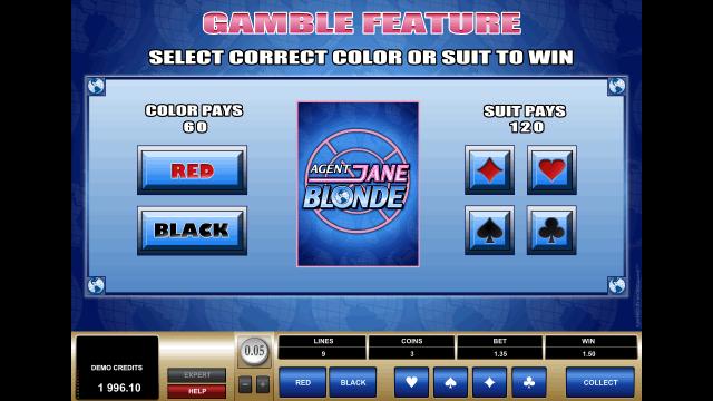 Бонусная игра Agent Jane Blonde 4