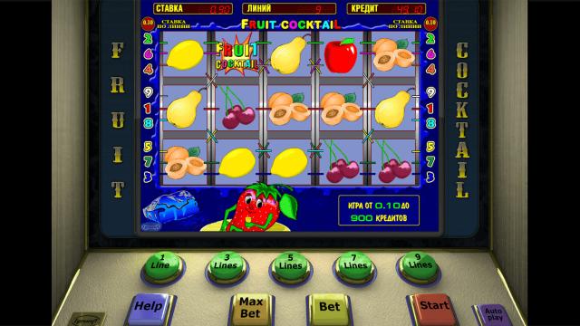 Игровой интерфейс Fruit Cocktail 2