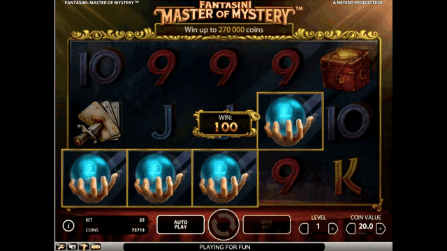 Бонусная игра Fantasini: Master Of Mystery 9