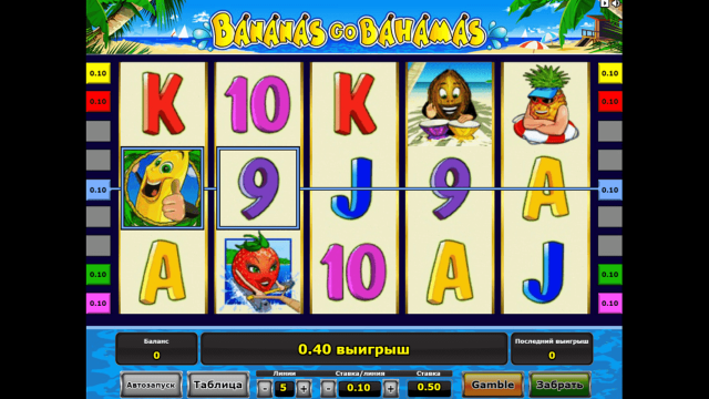 Характеристики слота Bananas Go Bahamas 3