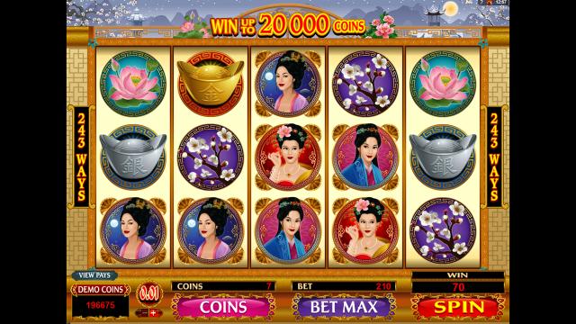 Игровой интерфейс Asian Beauty 4