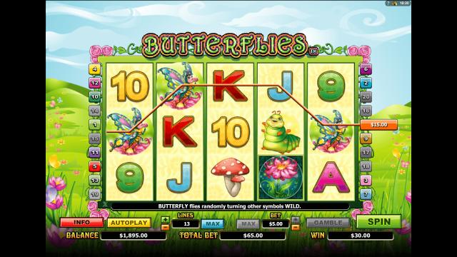 Бонусная игра Butterflies 8