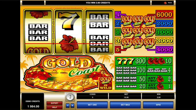 Игровой интерфейс Gold Coast 4