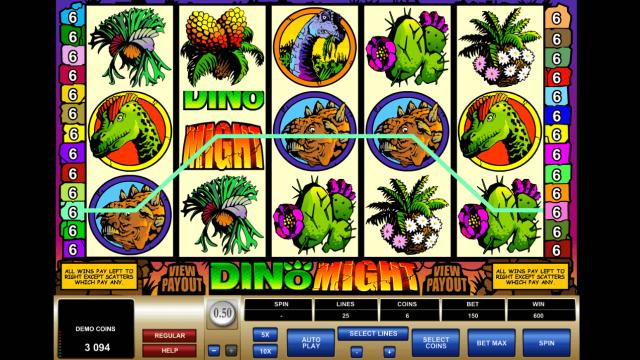 Характеристики слота Dino Might 10
