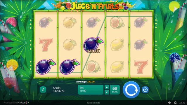Характеристики слота Juice 'N' Fruits 10