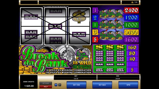 Бонусная игра Break Da Bank 4