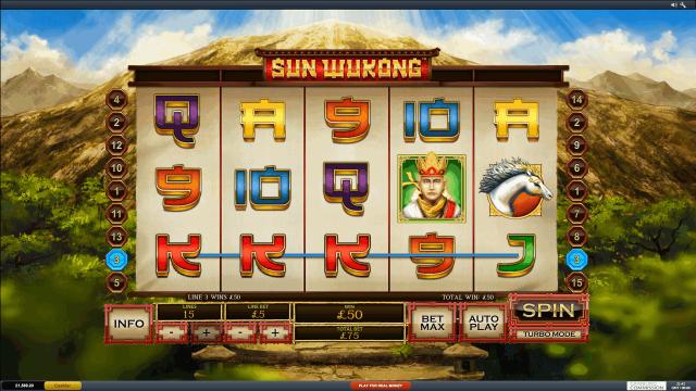 Характеристики слота Sun Wukong 5