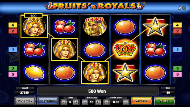 Игровой интерфейс Fruits And Royals 9