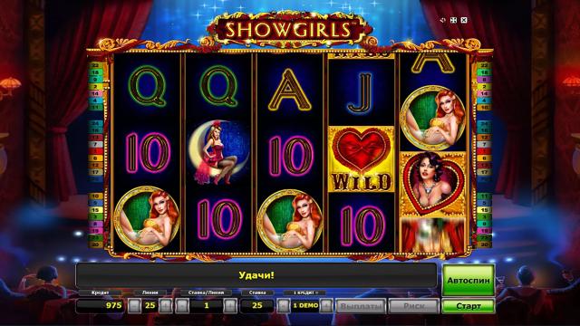 Характеристики слота Showgirls 3