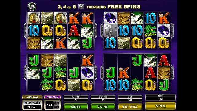 Характеристики слота Mega Spins Break Da Bank Again 10