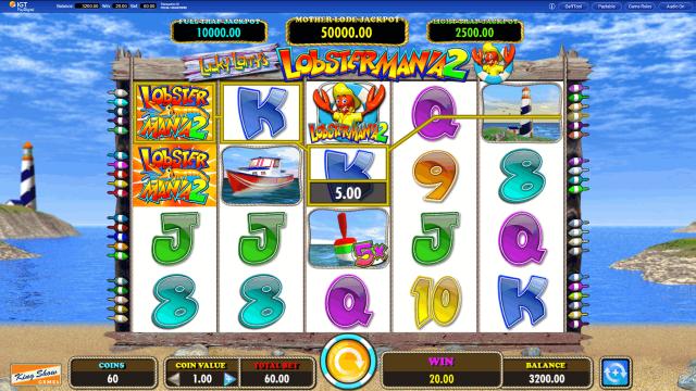 Игровой интерфейс Lucky Larry's Lobstermania 2 2