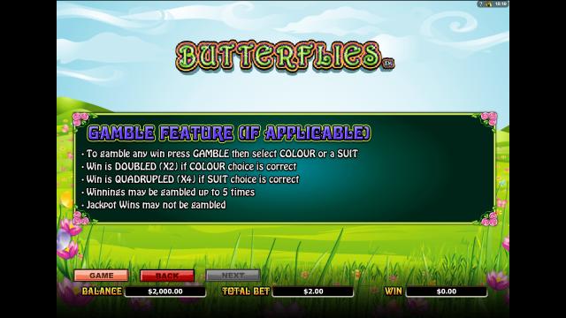 Игровой интерфейс Butterflies 6