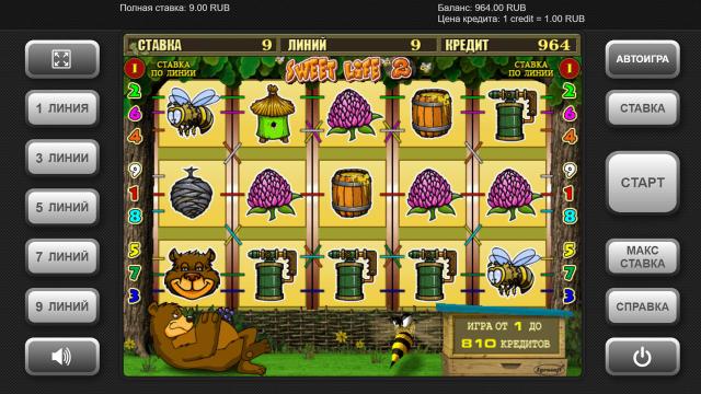 Игровой интерфейс Sweet Life 2 4