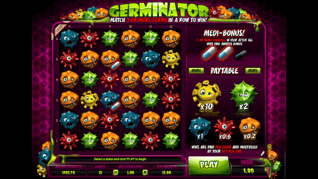 Игровой интерфейс Germinator 7