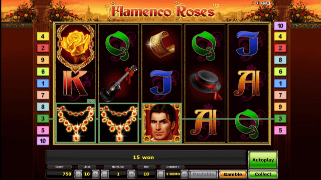 Бонусная игра Flamenco Roses 2