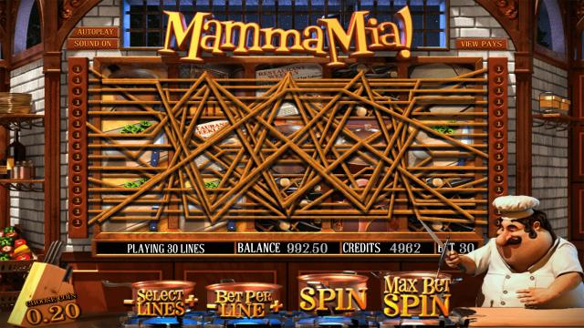 Игровой интерфейс Mamma Mia 8