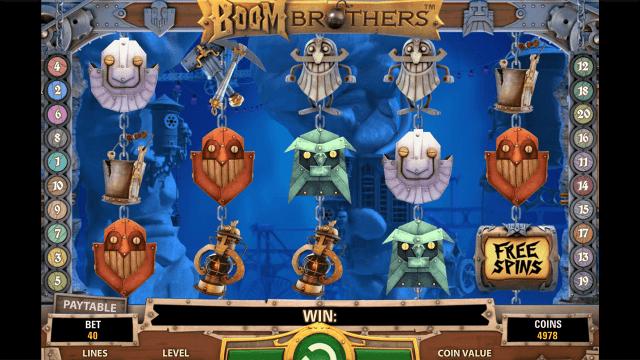 Игровой интерфейс Boom Brothers 3