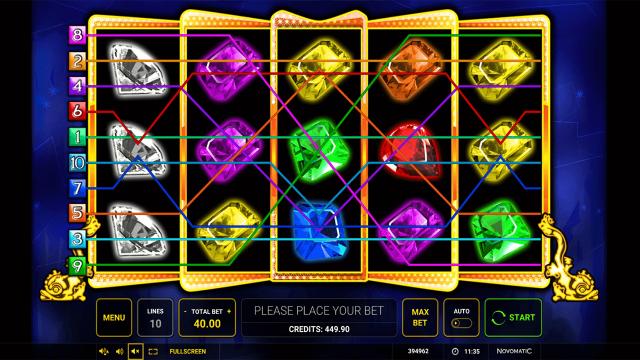 Игровой интерфейс Gemstone Jackpot 10