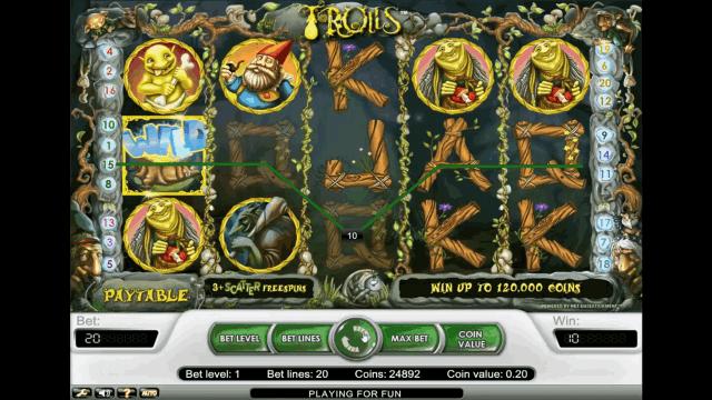 Игровой интерфейс Trolls 3