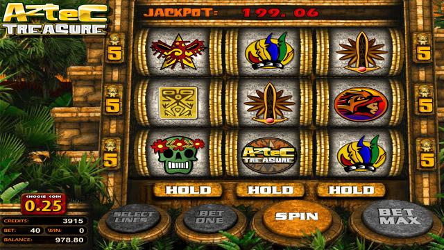 Игровой интерфейс Aztec Treasure 2D 4