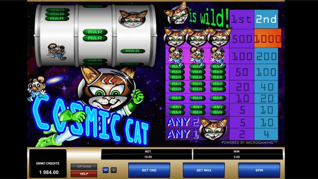 Игровой интерфейс Cosmic Cat 7