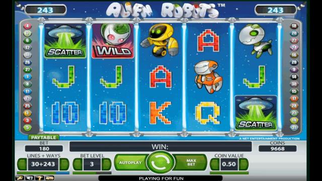 Бонусная игра Alien Robots 3