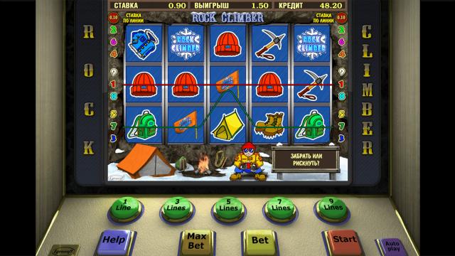 Бонусная игра Rock Climber 10