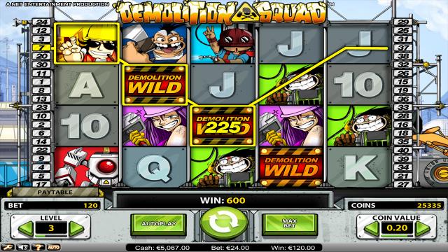 Бонусная игра Demolition Squad 7