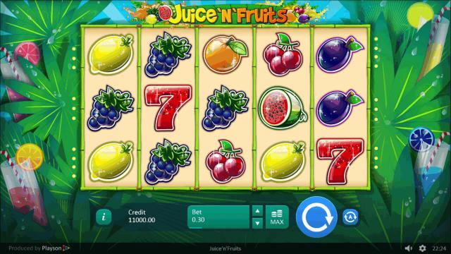 Бонусная игра Juice 'N' Fruits 1
