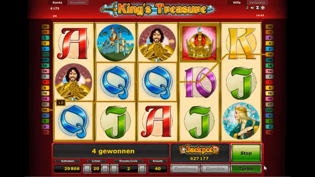 Игровой интерфейс King's Treasure 3