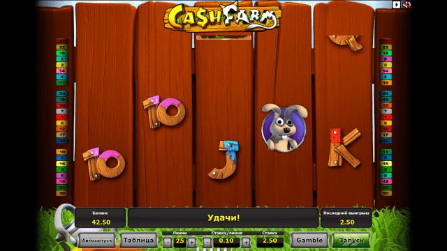 Характеристики слота Cash Farm 2