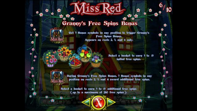 Игровой интерфейс Miss Red 10