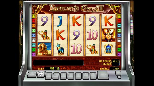 Игровой интерфейс Pharaoh's Gold III 4