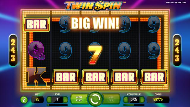 Игровой интерфейс Twin Spin 7
