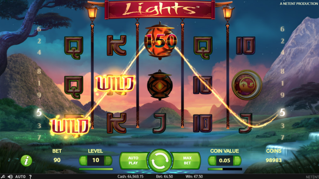 Бонусная игра Lights 5