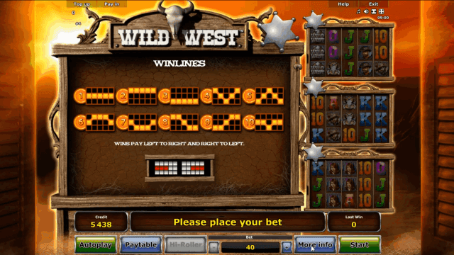 Игровой интерфейс Wild West 4