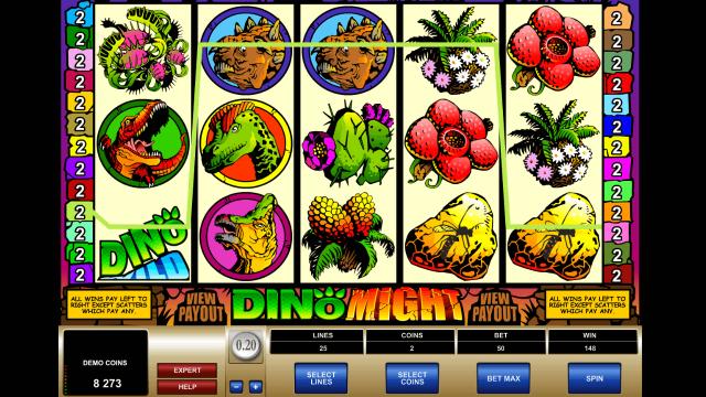 Бонусная игра Dino Might 4